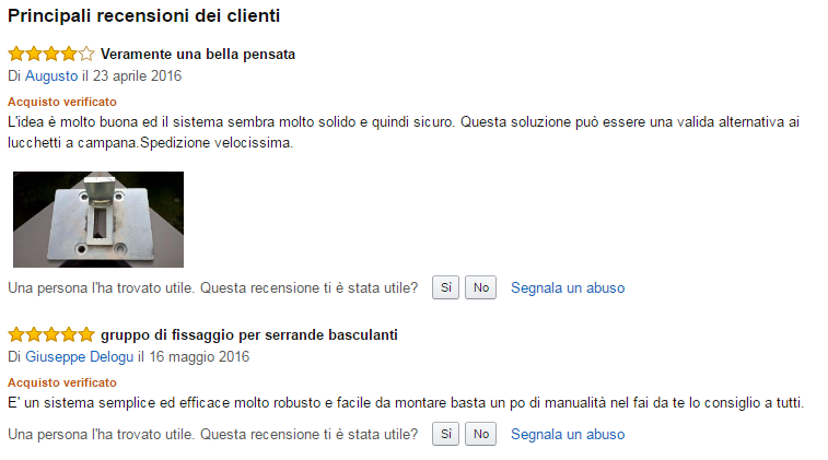 Feedback Clienti Amazon